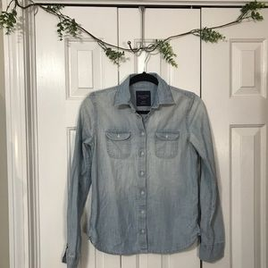 Chambray long sleeve button down